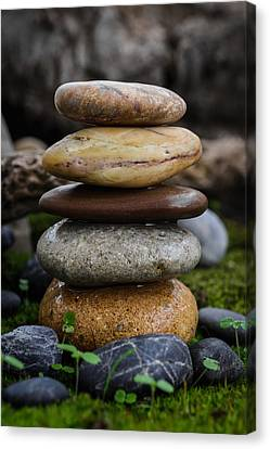 Stacked Stones A4 Canvas Print by Marco Oliveira