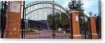 Stadium Of A University, Michigan Canvas Print by Panoramic Images