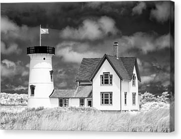 Stage Harbor Light Canvas Print by Michael Blanchette