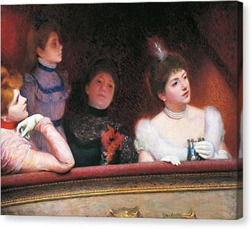 Stage Or Au Theatre Canvas Print by Federico Zandomeneghi