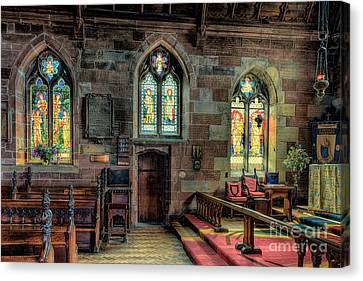 Stained Glass Canvas Print by Adrian Evans