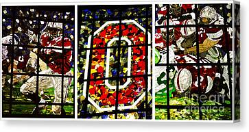 Stained Glass At The Horseshoe Canvas Print by David Bearden