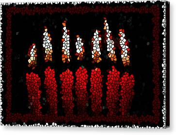 Stained Glass Candle Canvas Print by Lanjee Chee