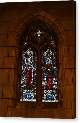 Stained Glass In New York City Canvas Print by Dan Sproul