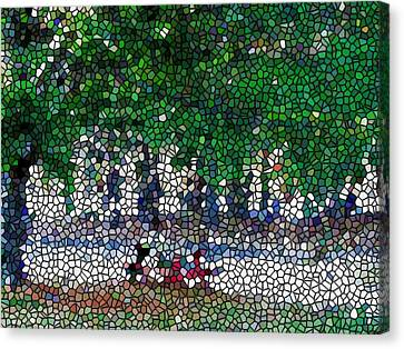 Stained Glass  Park Canvas Print by Lanjee Chee