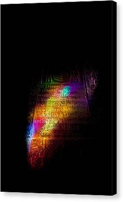 Stained Glass Reflection In The 10th Canvas Print by Panoramic Images