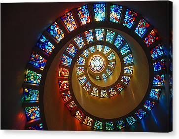 Stained Glass Spiral Canvas Print by James Kirkikis