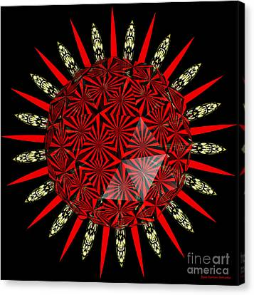 Stained Glass Window Kaleidoscope Polyhedron Canvas Print by Rose Santuci-Sofranko