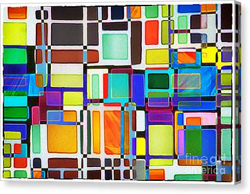 Stained Glass Window Multi-colored Abstract Canvas Print by Natalie Kinnear