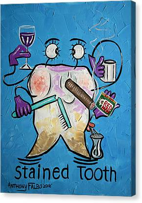 Stained Tooth Canvas Print by Anthony Falbo