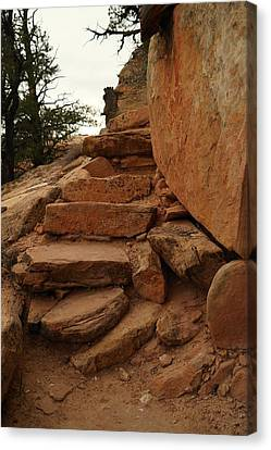 Stairs In The Desert Canvas Print by Jeff Swan