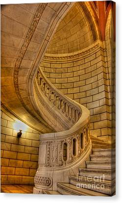 Stairs Of Mythical Proportion Canvas Print by David Bearden