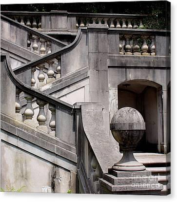Stairway At Winterthur Canvas Print by Karen Adams
