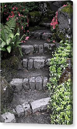 Stairway Path To Gardens Canvas Print by Athena Mckinzie
