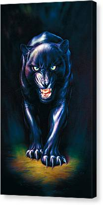 Stalking Panther Canvas Print by Andrew Farley