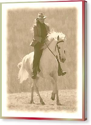 Stallion Strides Canvas Print by Patricia Keller