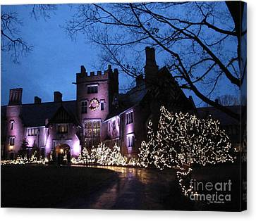 Stan Hywet Hall And Gardens Christmas  Canvas Print by Joan  Minchak