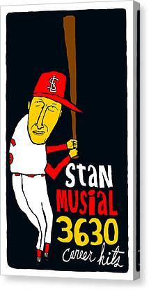 Stan Musial St Louis Cardinals Canvas Print by Jay Perkins