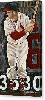Stan Musial Canvas Print by Terry  Hester