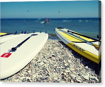 Stand Up Paddle Boards Canvas Print by Stelios Kleanthous