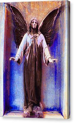 Standing Angel Canvas Print by Tony Rubino