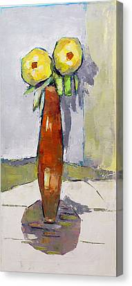 Standing Astride Canvas Print by Becky Kim