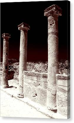 Standing Columns Canvas Print by John Rizzuto