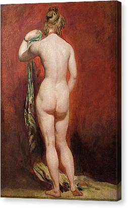 Standing Female Nude Canvas Print by William Etty