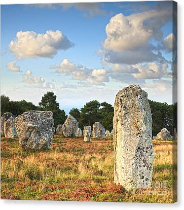 Standing Stones Carnac Brittany Canvas Print by Colin and Linda McKie