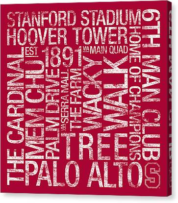 Stanford College Colors Subway Art Canvas Print by Replay Photos