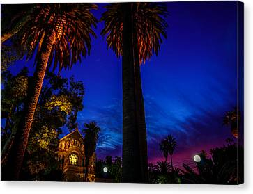 Stanford University Memorial Church At Sunset Canvas Print by Scott McGuire