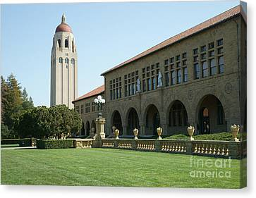 Stanford University Palo Alto California Hoover Tower Dsc685 Canvas Print by Wingsdomain Art and Photography
