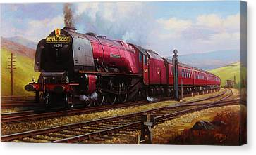 Stanier Pacific On Shap. Canvas Print by Mike  Jeffries