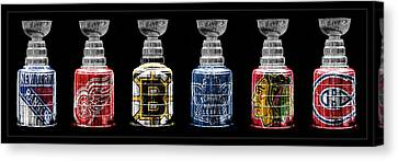 Stanley Cup Original Six Canvas Print by Andrew Fare