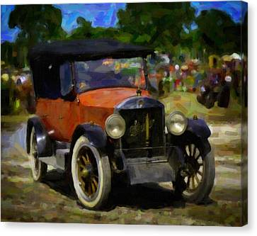 Stanley Steamer Automobile Canvas Print by F Leblanc