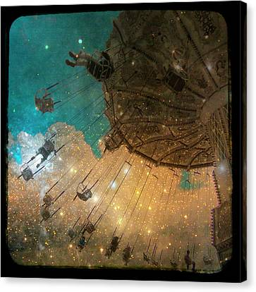 Star Bright Canvas Print by Gothicolors Donna