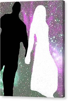 Star-crossed Lovers Canvas Print by Jimi Bush