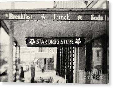 Star Drug Store Marquee Canvas Print by Scott Pellegrin