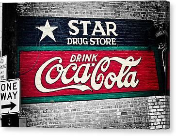 Star Drug Store Wall Sign Canvas Print by Scott Pellegrin