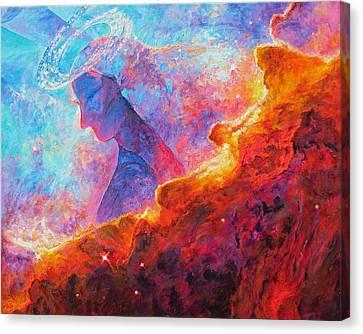 Star Dust Angel Canvas Print by Julie Turner