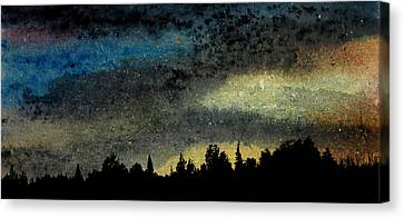 Star Filled Sky Canvas Print by R Kyllo