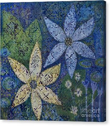 Star Flowers Canvas Print by Jennifer Grace
