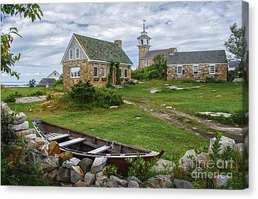 Star Island Dory Canvas Print by Scott Thorp