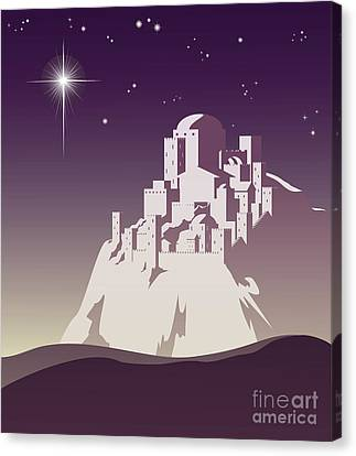 Star Over Bethlehem Canvas Print by Christos Georghiou