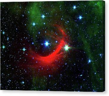 Star Shock Wave Canvas Print by Nasa/jpl-caltech