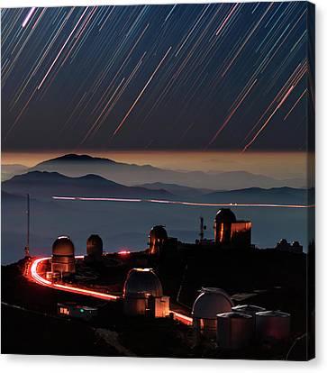 Star Trails Over La Silla Observatory Canvas Print by Babak Tafreshi