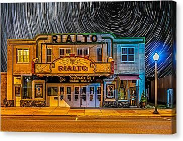 Star Trails Over The Rialto Canvas Print by Paul Freidlund
