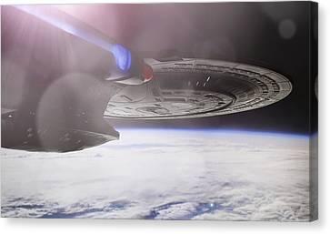 Star Trek - A New Civilization Canvas Print by Jason Politte