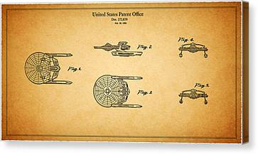 Star Trek - Spaceship Patent 1984 Canvas Print by Mark Rogan