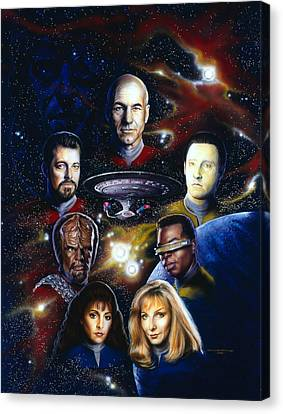 Star Trek Tng Canvas Print by Tim  Scoggins